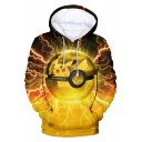 Trendy 3D Cartoon Printed Long Sleeve Unisex Relaxed Hoodie