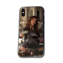 Harry Potter Figure Cartoon Printed Silicone Hem Glass Mobile Phone Case for iPhone