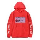 American Singer Street Red Lip Letter Tank U Next Long Sleeve Pullover Unisex Hoodie