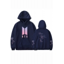 Boy Band Logo LOVE YOURSELF Answer Knot Print Loose Fit Pullover Hoodie