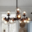 Post Modern Modo Chandeliers Cognac Glass Shade 12/16 Lights Art Deco Ceiling Pendant Lamp