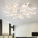 Multi Light Wing Ceiling Light Modern Chic Acrylic LED Semi Flush Light in Warm/White/Neutral