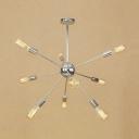 Multi Light Impulse Chandelier Light Post Modern Steel Suspended Light in Chrome for Bedroom