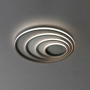 Silicon Gel Multi Circle Flush Light Modern LED Surface Mount Ceiling Light in Second Gear