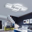 Geometric Pattern Ceiling Fixture Modernism Silicon Gel 3-LED Lighting Fixture in Warm/White