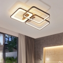 Modernism Super-thin LED Semi Flush Light Acrylic Eye Protection Semi Flush Ceiling Light in Neutral