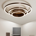 Multi-Layer Flush Light Minimalist Acrylic Shade LED Ceiling Light in Warm/White/Neutral
