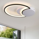 Super-thin LED Ceiling Light with Crescent Modernism Metal Surface Mount Ceiling Light in Warm/White