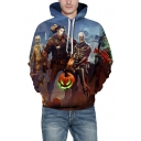 Game 3D Figure Printed Unisex Long Sleeve Casual Drawstring Hoodie