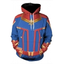 Cool 3D Pattern Cosplay Costume Blue Sport Casual Unisex Hoodie