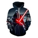 Cool 3D Darth Vader Pattern Long Sleeve Sport Casual Pullover Hoodie