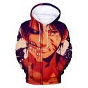 Cool 3D Comic Character Pattern Long Sleeve Sport Loose Hoodie