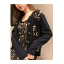 Floral Pattern Long Sleeve Buttons Down Cardigan