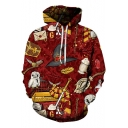 Harry Potter Fashion Magic Hat 3D Printed Sport Loose Red Hoodie