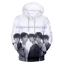 Boy Band Fashion Cool 3D Figure Printed Long Sleeve Unisex Drawstring Hoodie