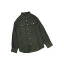 Basic Simple Plain Loose Relaxed Long Sleeve Unisex Corduroy Shirt