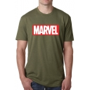 Letter MARVEL Printed Summer Short Sleeve Loose Relaxed T-Shirt
