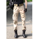 Guys Classic Camouflage Printed Outdoor Camping Trousers Cotton Loose Cargo Pants
