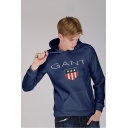 Fashion Flag Letter GANT Printed Unisex Loose Casual Hoodie