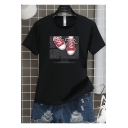 Summer Hot Popular Canvas Shoes Pattern Unisex Short Sleeve T-Shirt