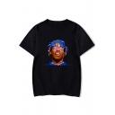 Popular American Rapper Basic Round Neck Short Sleeve T-Shirt