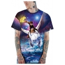 How to Train Your Dragon Fashion 3D Galaxy Print Short Sleeve Hipster T-Shirt