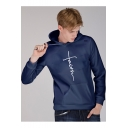 Men's New Arrival Trendy Letter FAITH Printed Long Sleeve Casual Loose Hoodie
