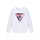 League of Legends Fashion Printed Basic Round Neck Long Sleeve White Sweatshirt