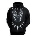 Black Panther Cool 3D Figure Printed Relaxed Fit Pullover Hoodie