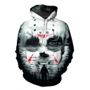 New Trendy Boat Killer 3D Printing Long Sleeve Relaxed Fit Hoodie
