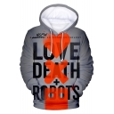 Love Death & Robots New Stylish 3D Printing Long Sleeve Loose Fit Drawstring Hoodie