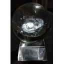 Fashion Galaxy Inside Customized Luminous Base Crystal Ball for Birthday Gift 6cm