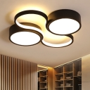 Ultrathin Round Shade Ceiling Fixture with Acrylic Lampshade Modern Fashion Surface Mount LED Light