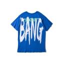 Hip Hop Style Street Letter BANG Pattern Unisex Loose Cotton T-Shirt