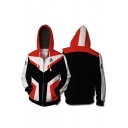 New Trendy Cosplay Costume Zip Up Red Hoodie