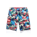 Fancy Fast Drying colorful Camouflage Cotton Bathing Trunks with Drawcord