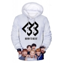 Boy Band New Fashion 3D Figure Letter Logo Printed Basic Long Sleeve Pullover Casual Hoodie