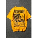 Cool Street Letter DON'T WAR Graphic Print Loose Fit T-Shirt