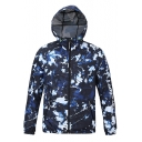 Outdoor Fashion Camo Printed Quick-Drying Waterproof Sport Windbreaker Coat