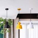 Upside-Down Trifle Pendant Lighting Minimalist Modern Single Head Suspended Light in Black/White/Yellow