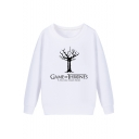 Game of Thrones Basic Round Neck Long Sleeve Pullover Loose Fitted Sweatshirt