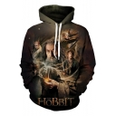 The Hobbit Trendy 3D Character Pattern Long Sleeve Unisex Pullover Casual Hoodie