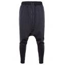 Mens Comfort Cotton Simple Plain Drawstring Waist Sporty Pants Harem Pants