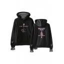 Popular LOVE YOURSELF Long Sleeve Fake Two-Piece Pullover Casual Hoodie
