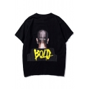 Street Style Hip Hop Fashion Letter BOLD Printed Cotton Loose T-Shirt