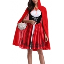 Halloween Series Plain Loose Hooded Cape