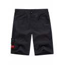 Mens Summer Plain Fashion Buckle Pocket Sport Casual Relaxed Active Shorts