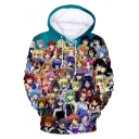 New Trendy Fashion 3D Anime Comic Character Pattern Relaxed Fit Hoodie