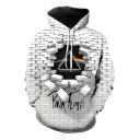 Popular Rock Band Cool Unique 3D Checkerboard Printed White Casual Hoodie