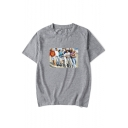 Beverly Hills 90210 Figure Printed Casual Loose Short Sleeve T-Shirt